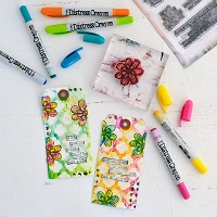 Distress Crayons Techniques Tags