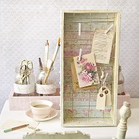Shabby Chic Desk Decor Memo Board by Sarah Donawerth