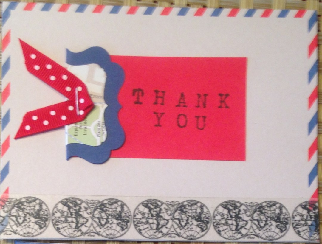 Airmail Thank You Note Card