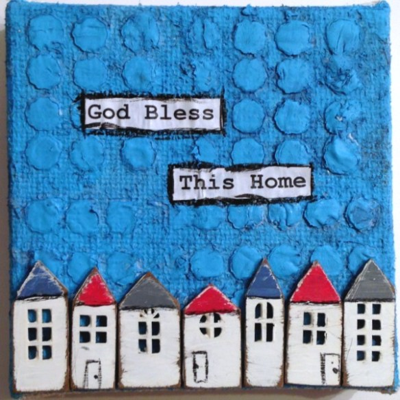 God Bless This Home Mixed-Media Canvas