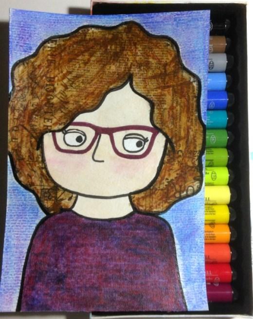Mixed-Media Self Portrait