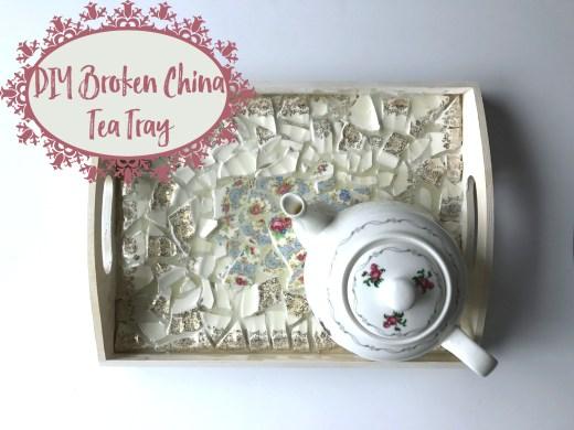 DIY Broken China Tea Tray