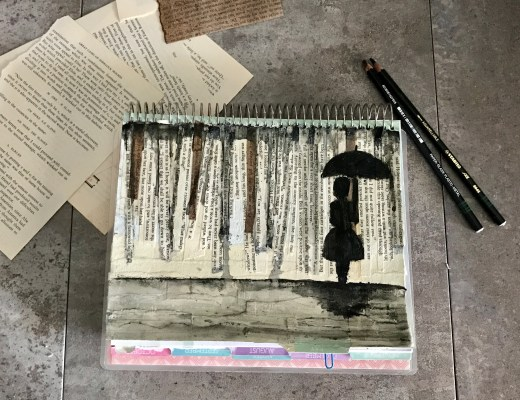 Rainy Days Mixed-Media Canvas