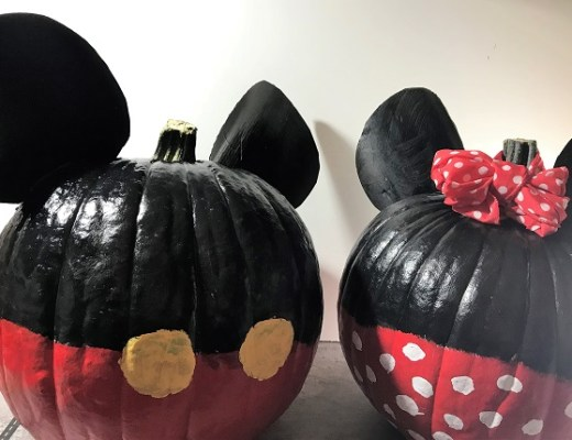 Mickey and Minnie Painted Pumpkins