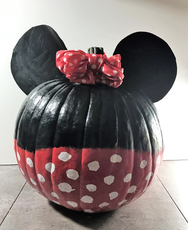 Minnie Painted Pumpkin