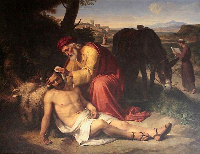 """El bon samarità (1838), de Pelegrí Clavé i Roquer"" by Pelegrín Clavé y Roqué"