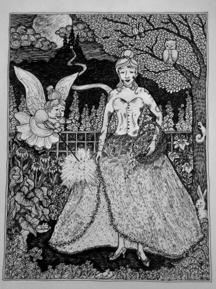 Original artwork in pen and ink, 2001