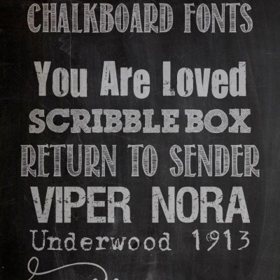 Favorite Free Fonts & a Free Chalkboard Download