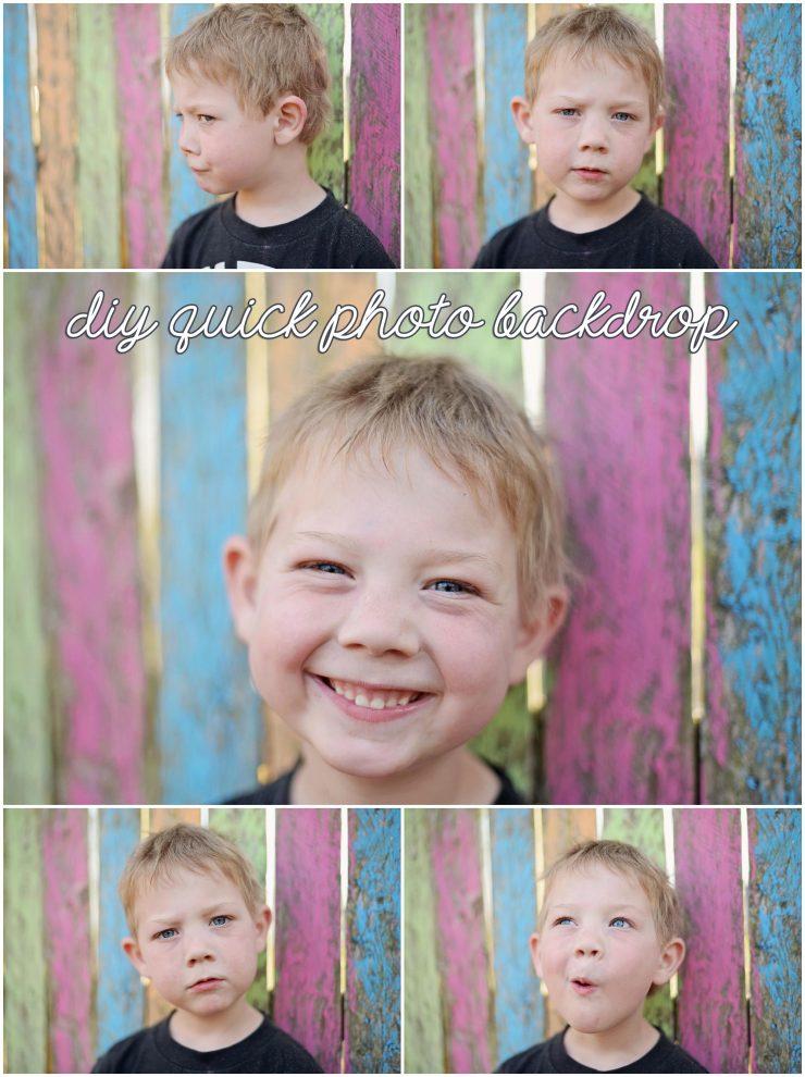 DIY Quick Photo Backdrop