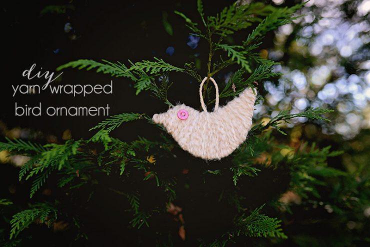 Yarn-Wrapped-Bird-Ornament