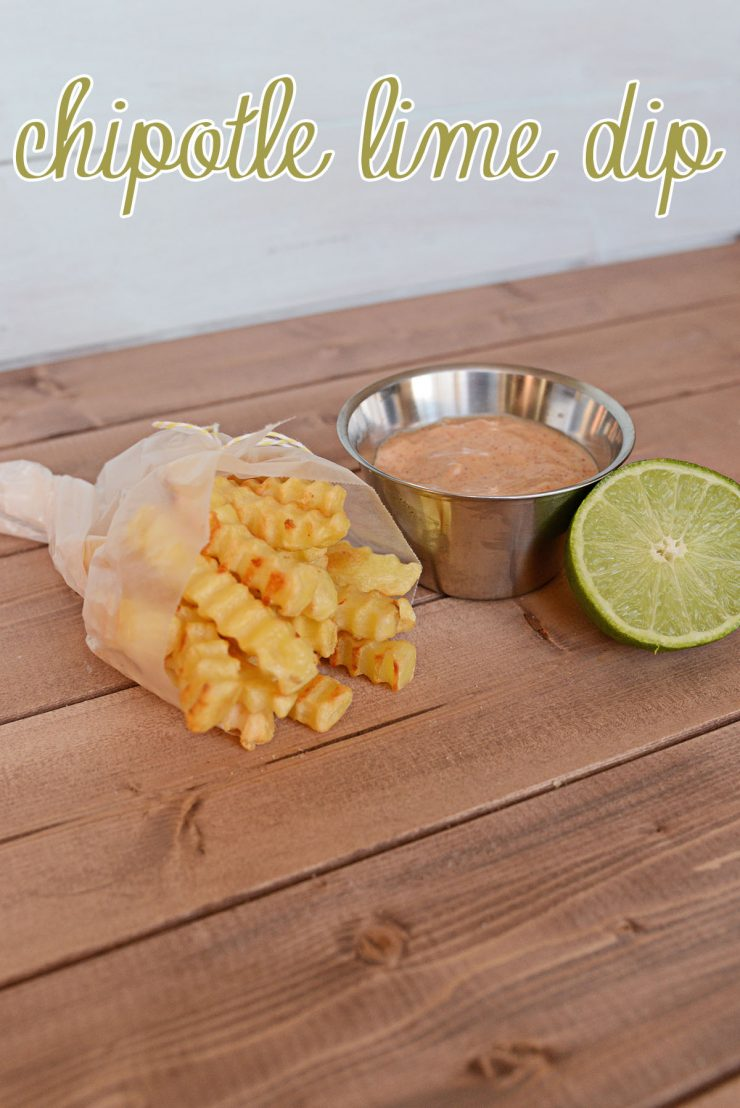 French Fry Recipes for Game Time  - Chipotle Lime Dip | #ad #CollectiveBias #GameTimeGrub