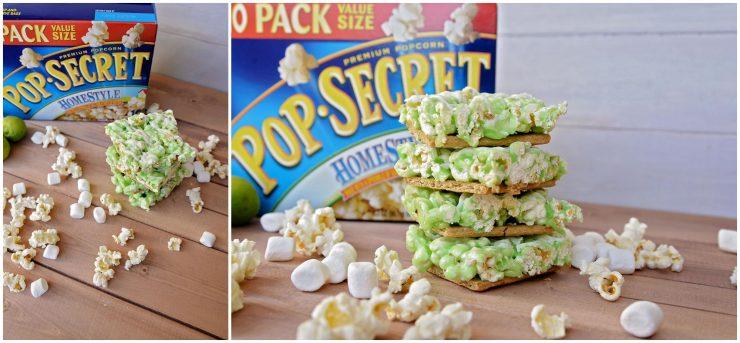 Key Lime Pie Popcorn Bars   #sp #PopSecretForts