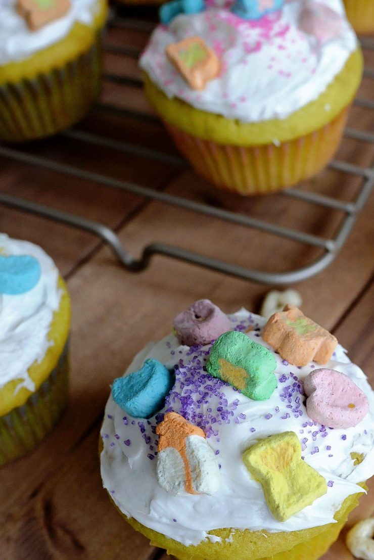 St. Patrick's Day Lucky Charms Cupcakes
