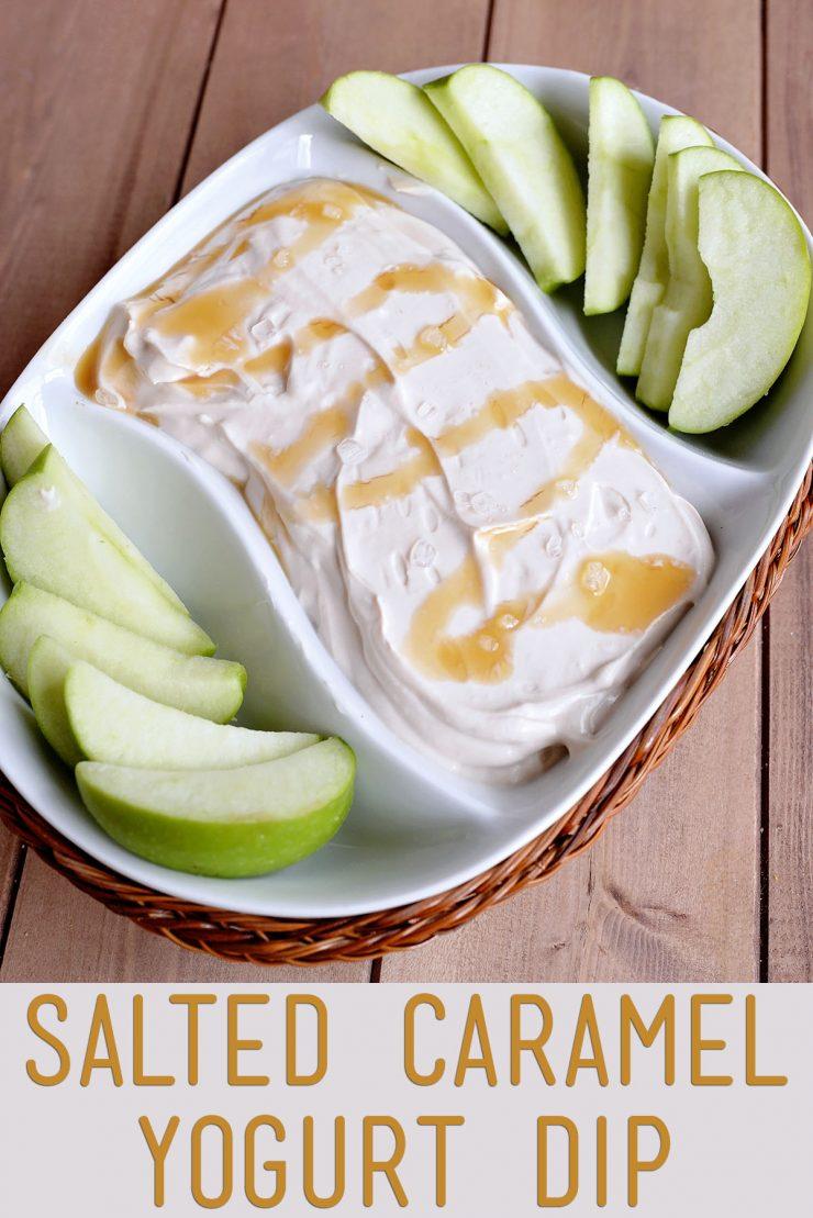 Salted Caramel Yogurt Dip | #ad #YogurtPefection