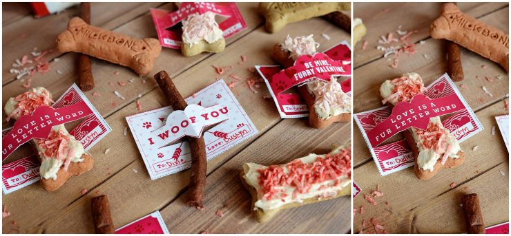 Dog Valentines | Yogurt Peanut Butter Milk-Bone Treat | #ad #TreatThePups #CollectiveBias