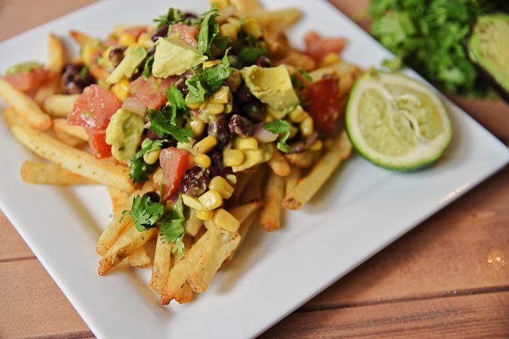 Avocado Black Bean Salsa Topped Fries | #ad #CollectiveBias #SpringIntoFlavor