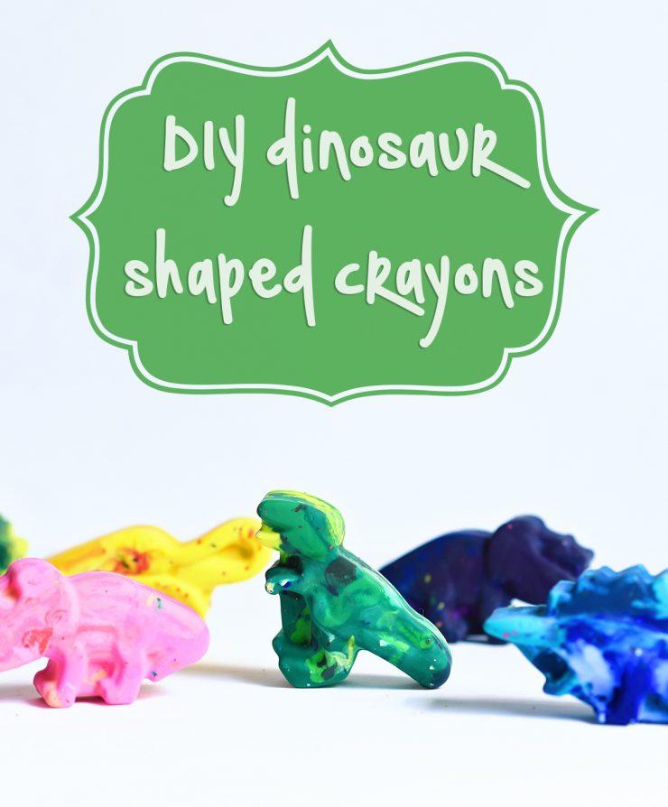 DIY Shaped Crayons   Dinosaur Crayons