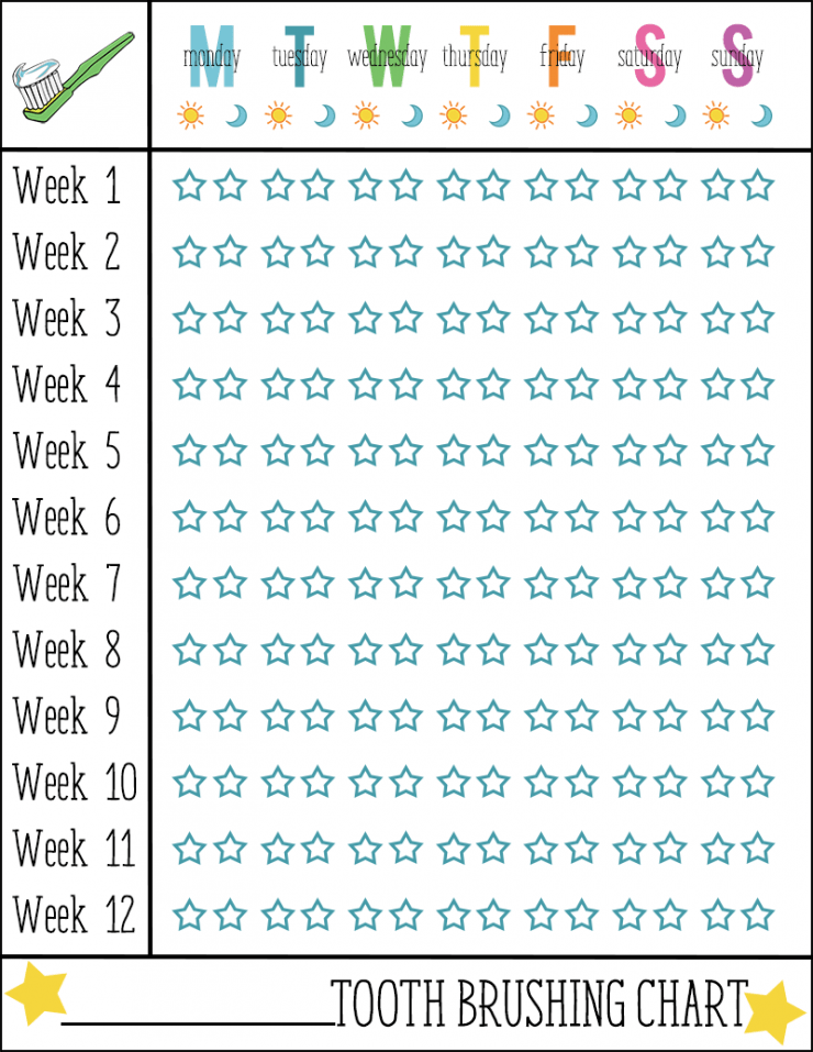 Tooth Brushing Chart | #ad #CollectiveBias #NaturalGoodness