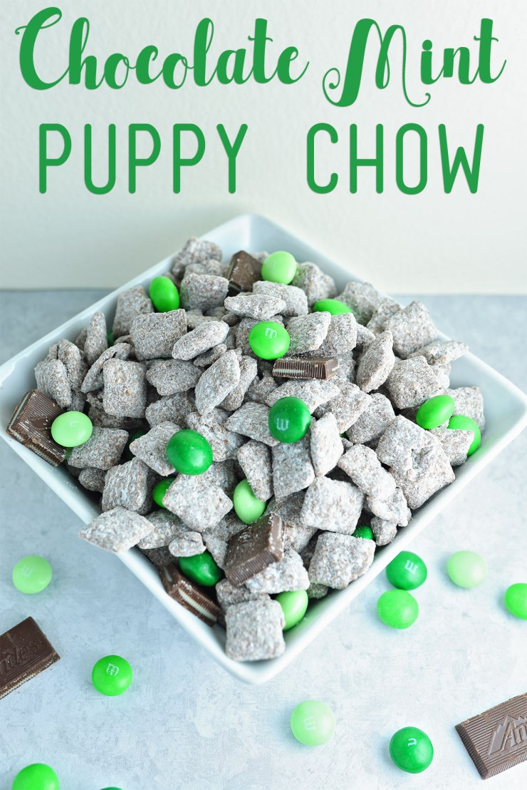 Chocolate Mint Puppy Chow