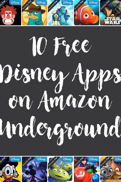 10 Free Disney Apps on Amazon Underground