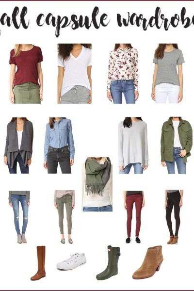 Fall Capsule Wardrobe