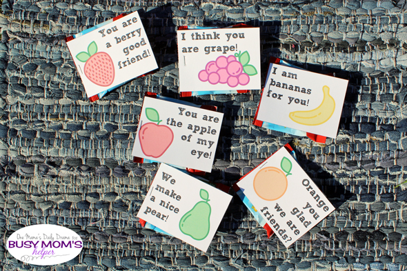 Printable Fruity Valentines by Busy Mom's Helper