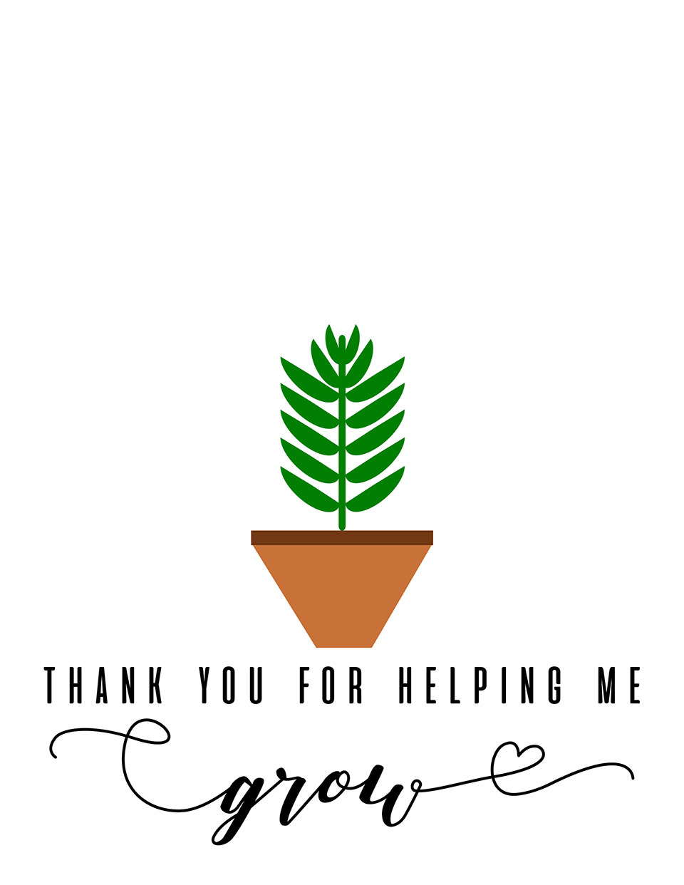 photograph about Thank You for Helping Me Grow Free Printable called thank oneself for encouraging me expand totally free printable Sarah Halstead