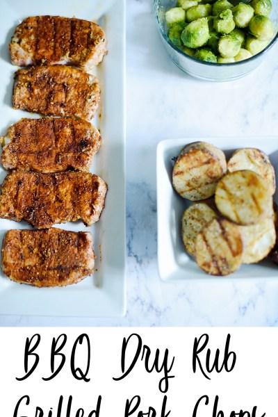 BBQ Dry Rub Grilled Pork Chops