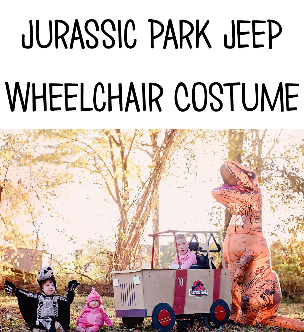 Dinosaurs and Jurassic Park Jeep Wheelchair Costume   Halloween 2018