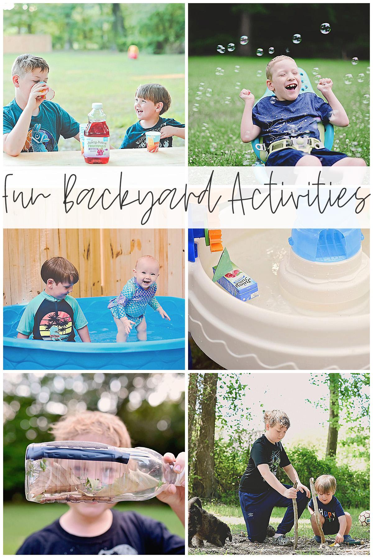 Fun Backyard Activities Sarah Halstead