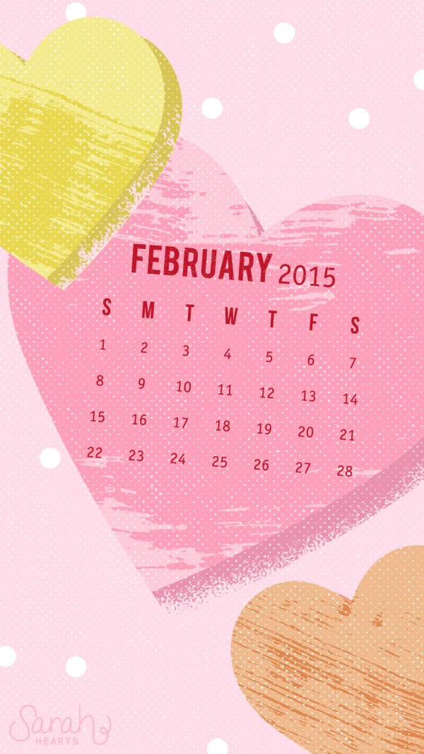 February 2015 Calendar Wallpaper Sarah Hearts