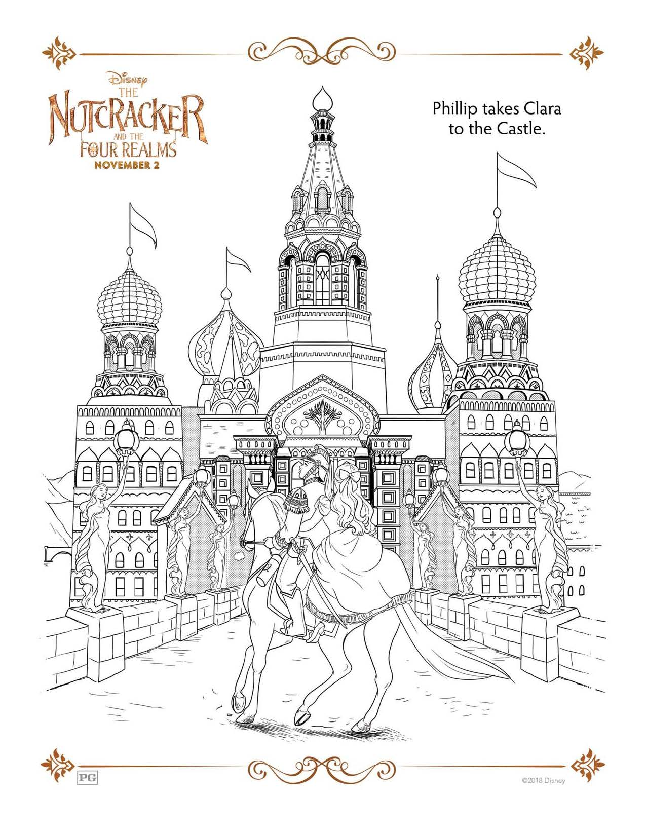 Disney S Nutcracker Free Coloring And Activity Sheets