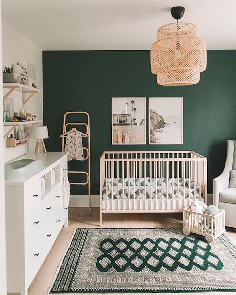 gender neutral nursery green color palette