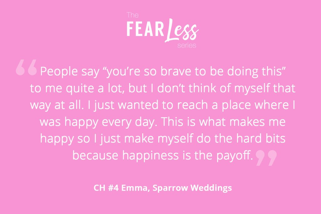 Fear Less Series Chapter 4 - Sparrow Weddings