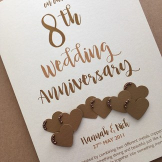 Bronze (8th) Anniversary Card