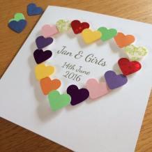 paper hearts wedding congratulations