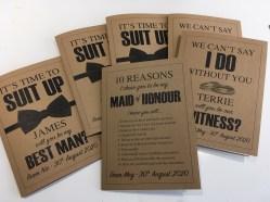 wedding attendant cards