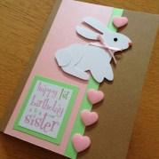 first birthday - pop up rabbit