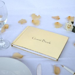 Gold guestbook