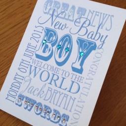 new baby typographic