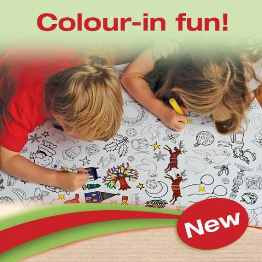 colour in tablecloth festive childrens crafts