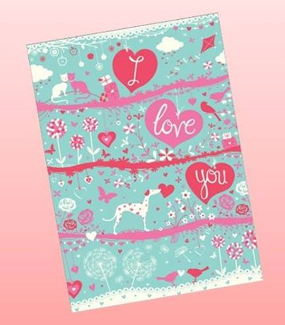 i love you valentine day card