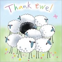 Thank Ewe Greeting Card