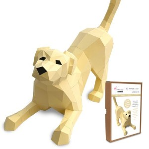 Labrador Paper Craft Kit Image