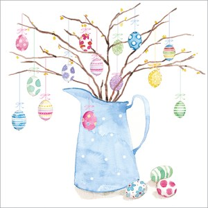 Painted Eggs Card