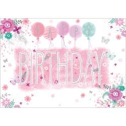 Birthday Balloons Card Design