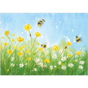 Buttercups and Daisies Card Design