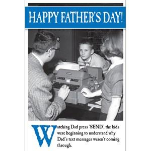 Father's Day technophobe card design