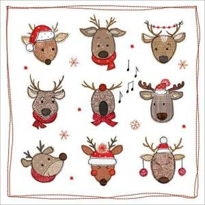 Christmas Reindeer Card Design