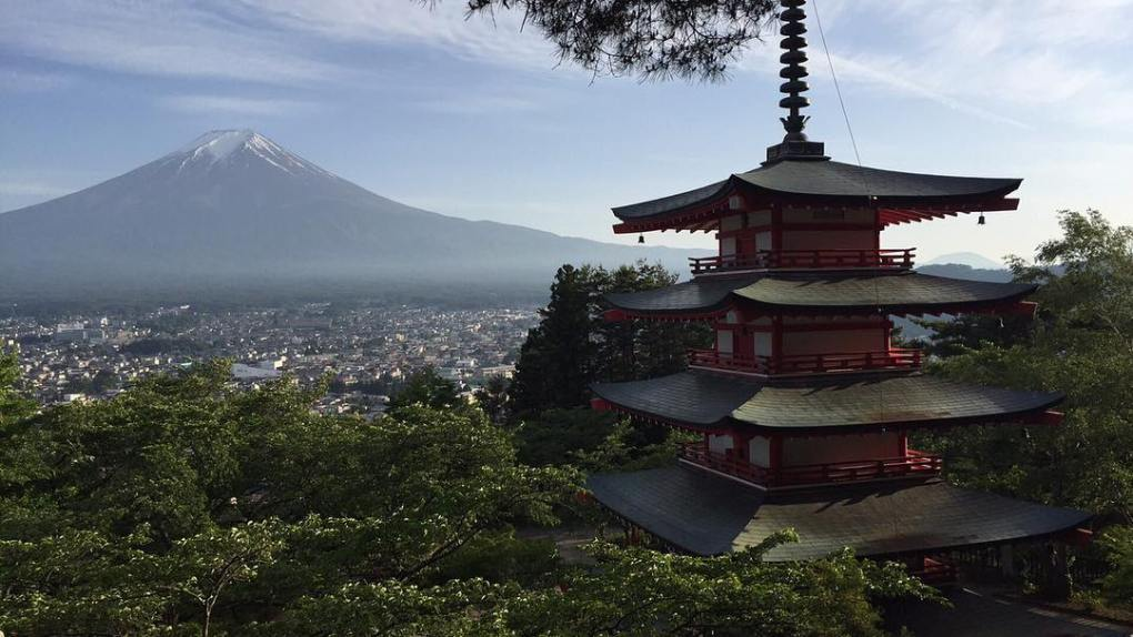 Mt. Fuji and Chureito Pagoda, Japan